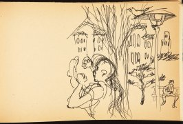 Illustration 13 in the book Out of a T'ai Chi Notebook: Observations of the spirit in words and drawings (sketchbook)