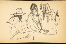 Illustration 14 in the book Out of a T'ai Chi Notebook: Observations of the spirit in words and drawings (sketchbook)