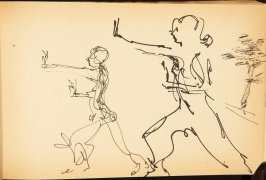 Illustration 20 in the book Out of a T'ai Chi Notebook: Observations of the spirit in words and drawings (sketchbook)