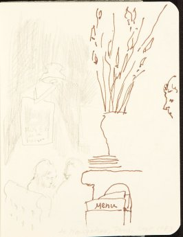 Illustration 5 in the book Sketchbook (MFK Fisher and Mary Anthony)