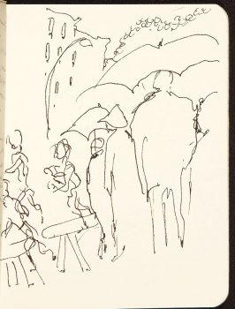 Illustration 7 in the book Sketchbook (MFK Fisher and Mary Anthony)