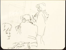 Untitled (Three figures), Illustration 8 in the book Sketchbook (MFK Fisher and Mary Anthony)