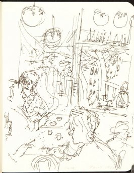 Illustration 2 (Cafe , Paris, 1984) in the book Sketchbook (Jenny Jacquet),