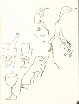 Untitled (Couple), Illustration 4 in the book Sketchbook (Sun Valley, Idaho, and Paris)