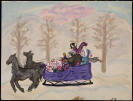 Untitled (Landscape with Sleigh)