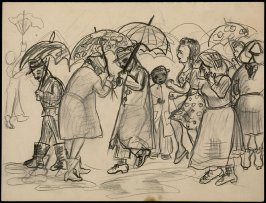 Untitled (Figures in the Rain)