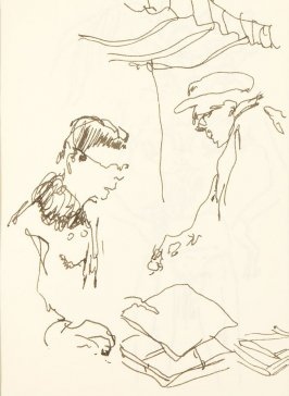 Untitled (Woman shopping), Illustration 10 in the book Chinatown Sketching Trip with my Workshop, San Francisco (sketchbook)