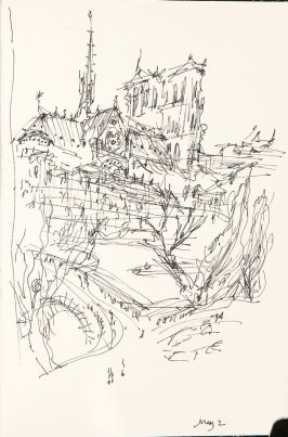 Illustration 1 in the book Sketchbook (Nantes and Dieppe)