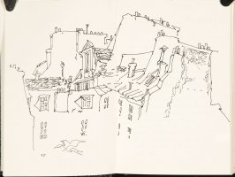 Untitled (Rooftops), Illustration 2 in the book Sketchbook (Nantes and Dieppe)