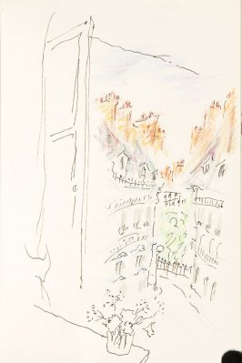 From the Cafe du Port, Illustration 26 in the book Sketchbook (Nantes and Dieppe)