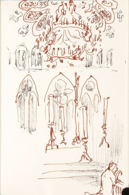 Untitled (Gate), Illustration 35 in the book Sketchbook (Nantes and Dieppe)