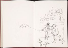 Untitled (Park scene), Illustration 9 in the book Sketchbook (Cité des Arts)