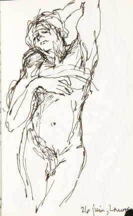 Untitled (Dying Slave), Illustration 29 in the book Sketchbook (Aix-en-Provence)
