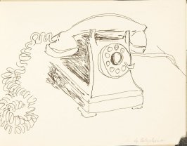 Le Telephone, Illustration 2 in the book Sketchbook (Portraits)