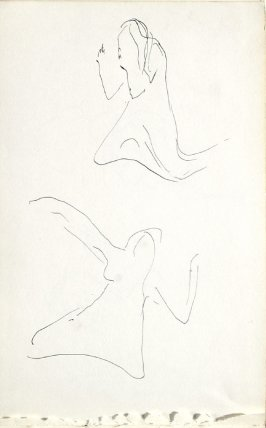 Untitled (Dancers), Illustration 1 in the book Sketchbook (Mary Anthony, Brooklyn College)