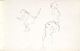 Untitled (Dancers), Illustration 2 in the book Sketchbook (Mary Anthony, Brooklyn College)