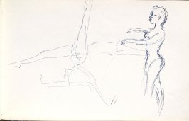 Untitled (Dancers), Illustration 4 in the book Sketchbook (Mary Anthony, Brooklyn College)