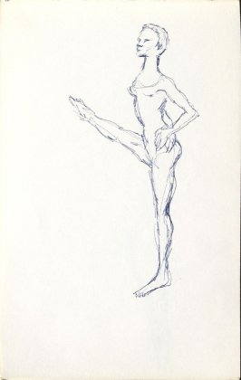 Untitled (Dancer), Illustration 5 in the book Sketchbook (Mary Anthony, Brooklyn College)