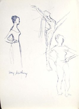 Mary Anthony With Dancers, Illustration 7 in the book Sketchbook (Mary Anthony, Brooklyn College)