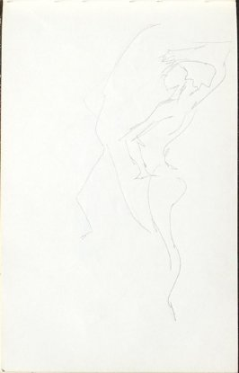 Untitled (Abstract Dancer), Illustration 11 in the book Sketchbook (Mary Anthony, Brooklyn College)