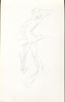Untitled (Abstract Dancer), Illustration 12 in the book Sketchbook (Mary Anthony, Brooklyn College)
