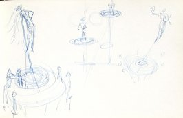 Untitled (Stage design), Illustration 18 in the book Sketchbook (Mary Anthony, Brooklyn College)