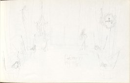 Untitled (Set design), Illustration 28 in the book Sketchbook (Mary Anthony, Brooklyn College)