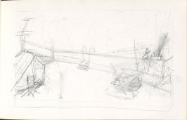 Untitled (Cityscape), Illustration 29 in the book Sketchbook (Mary Anthony, Brooklyn College)