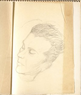 Untitled (Man with closed eyes), Illustration 1 in the book Sketchbook (Paris)