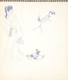 Untitled (Japanese woman and smoking man), Illustration 2 in the book Sketchbook (Paris)