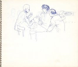 Untitled (Conversation), Illustration 3 in the book Sketchbook (Paris)