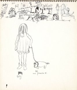 Betty and Sir Francis X, Illustration 8 in the book Sketchbook (Paris)