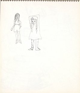 Untitled (Two girls), Illustration 9 in the book Sketchbook (Paris)