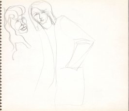 Untitled (Head and female figure), Illustration 11 in the book Sketchbook (Paris)