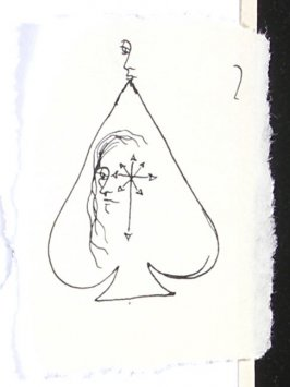 Untitled (Head with flowers), Illustration 14 in the book Sketchbook (Paris)