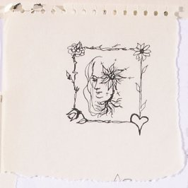 Untitled (Head with starburst), Illustration 15 in the book Sketchbook (Paris)