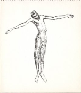 Untitled (Christ), Illustration 19 in the book Sketchbook (Paris)