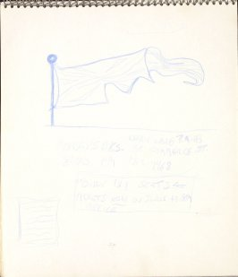 Untitled (Flag), Illustration 21 in the book Sketchbook (Paris)