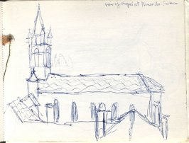 Untitled (Chapel at Pennes-les-Fontaines), Illustration 5 in the book Sketchbook (Europe, Ballet)