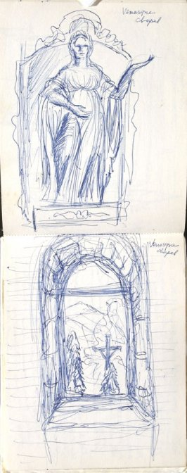 Venasque Chapel, Illustration 6 in the book Sketchbook (Europe, Ballet)