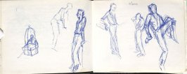 Klaus, Illustration 9 in the book Sketchbook (Europe, Ballet)