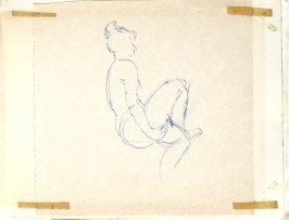Untitled (Woman), Illustration 12 in the book Sketchbook (Europe, Ballet)