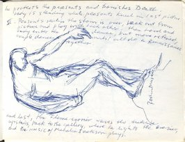 Rodin Museum, Illustration 19 in the book Sketchbook (Europe, Ballet)