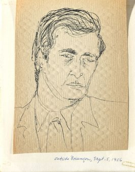 Untitled (Man's head), Illustration 22 in the book Sketchbook (Europe, Ballet)