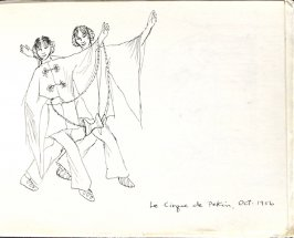 Le Cirque de Pekin, Illustration 24 in the book Sketchbook (Europe, Ballet)