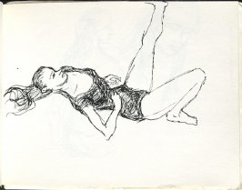 Laure On the Floor, Illustration 26 in the book Sketchbook (Europe, Ballet)