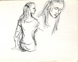 Untitled (Dancer), Illustration 27 in the book Sketchbook (Europe, Ballet)