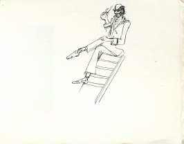 Untitled (Smoking), Illustration 30 in the book Sketchbook (Europe, Ballet)
