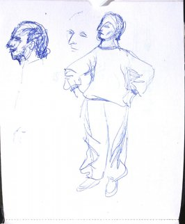 Untitled (Etienne Decroux Summer Courses in Mime), Illustration 32 in the book Sketchbook (Europe, Ballet)
