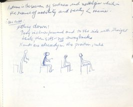 Untitled (Etienne Decroux Summer Courses in Mime), Illustration 34 in the book Sketchbook (Europe, Ballet)